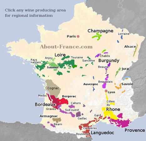 เขตผลิต ไวน์ฝรั่งเศส